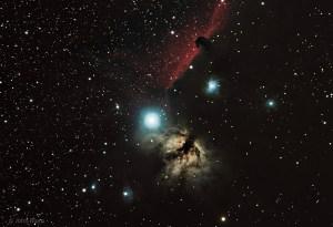 Flame Nebula, Horsehead Nebula