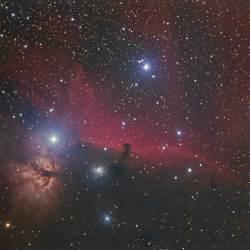Horse Head Nebula, Flame Nebula