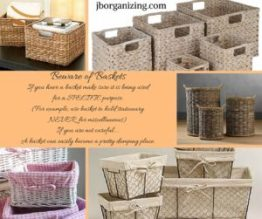 Beware of baskets