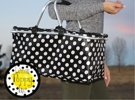 J Brandes carries Lemon Poppy picnic baskets