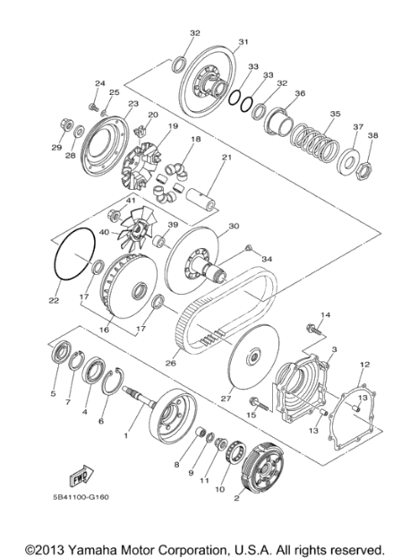 Yamaha Grizzly 700 Clutch Diagram