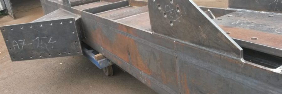 Manufacturing of steel poles – web-plate girder