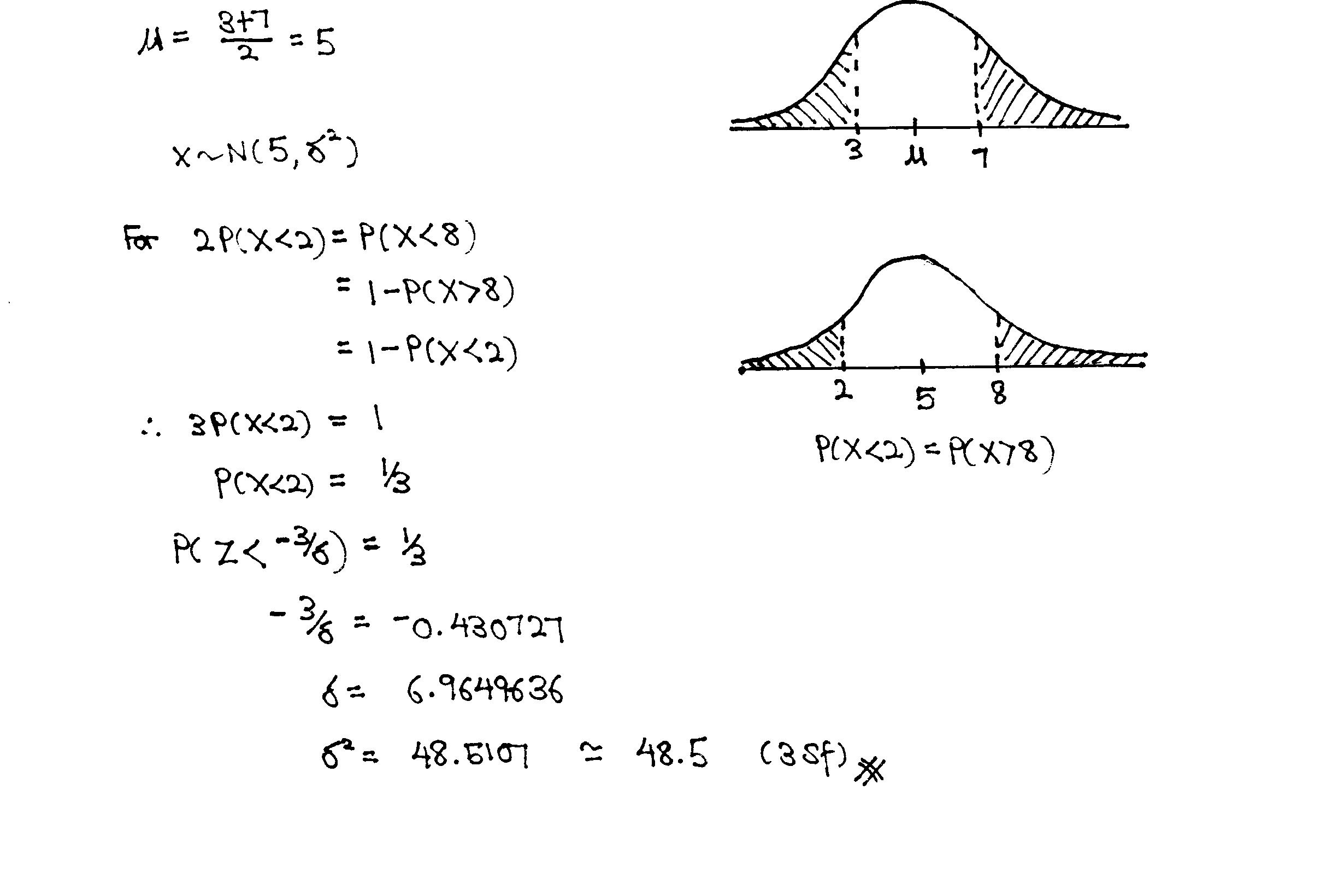 Nyjc Normal Distribution Tutorial Q7 Solution