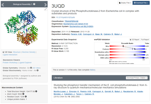 PDB 3UQD, the coordinates associated to our work on PFK-2