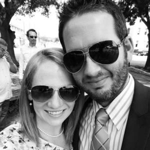 Mr. & Mrs. H. Jackson & Natausha Calame at a friend's wedding.