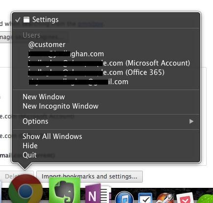 Chrome Users - Application Menu