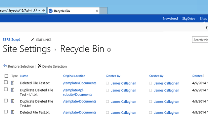 Working with SharePoint's Second Stage Recycle Bin in PowerShell