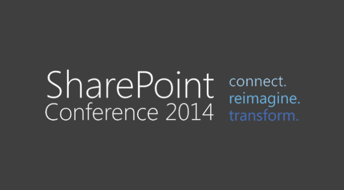 I'm attending the SharePoint Conference 2014 #SPC14 in Las Vegas!