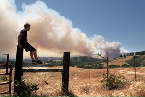 Fire from Santa Cruz Sentinel