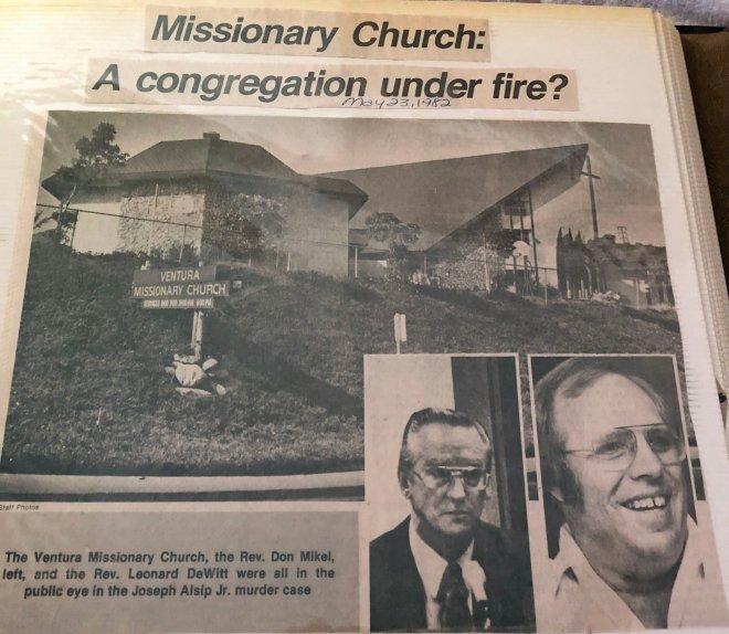 Ventura Missionary Church 1982