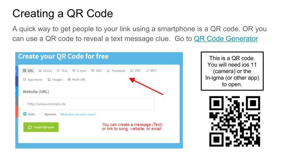how to make a qr code link to facebook