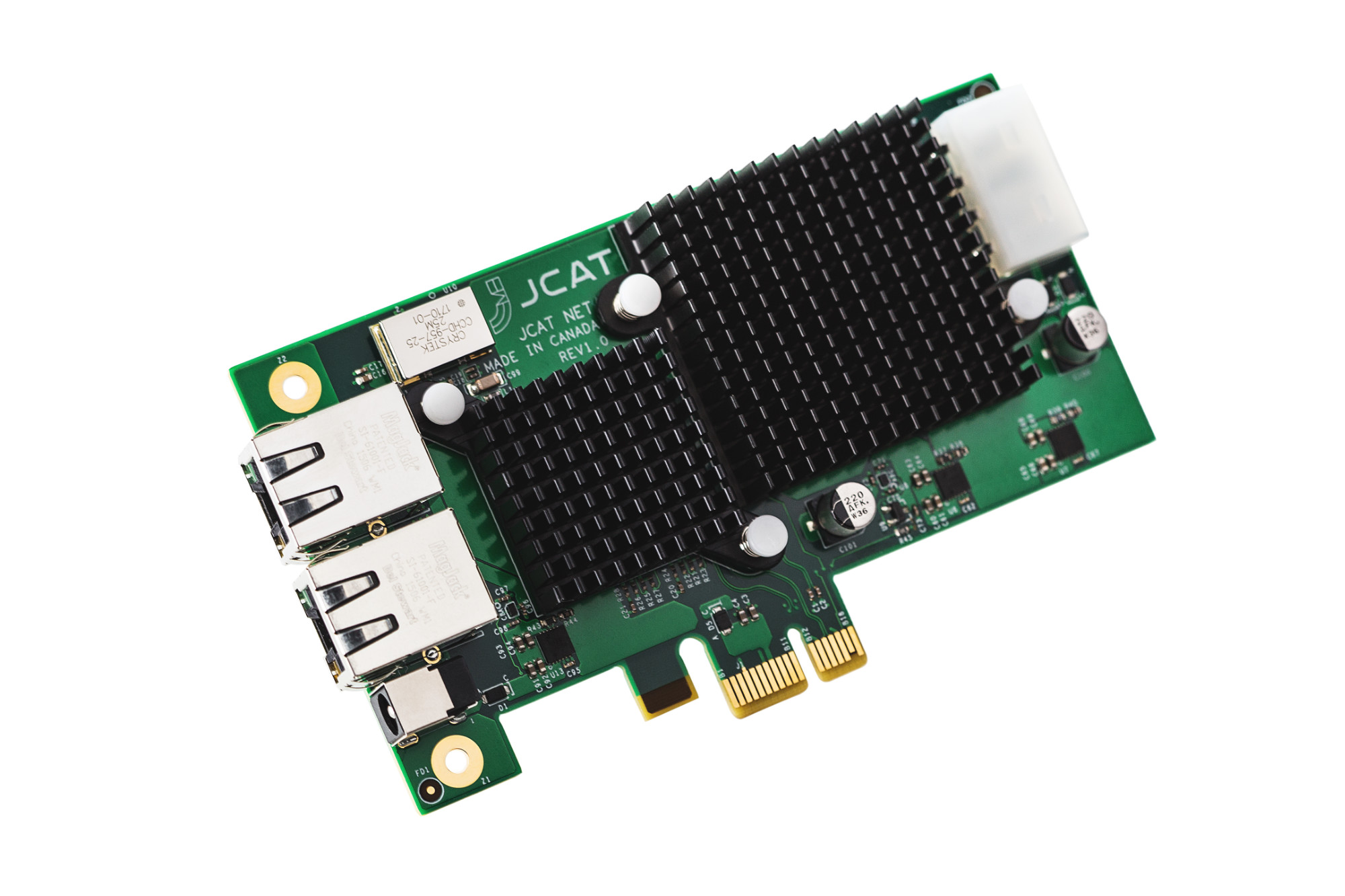 JCAT NET Card FEMTO. Hi-end network adapter card for computer audiophiles