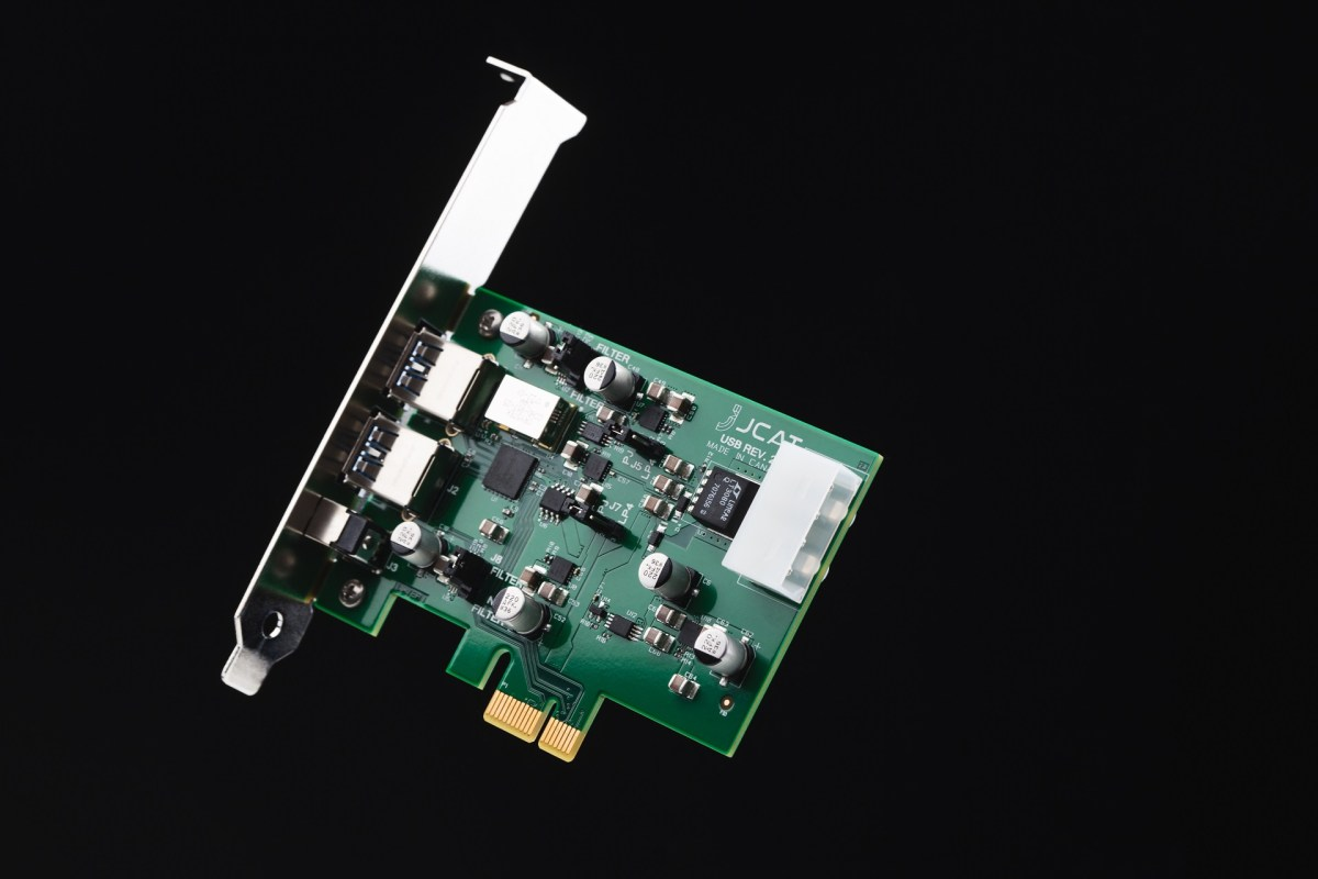hi-end audiophile pcie usb audio output card with femto clock
