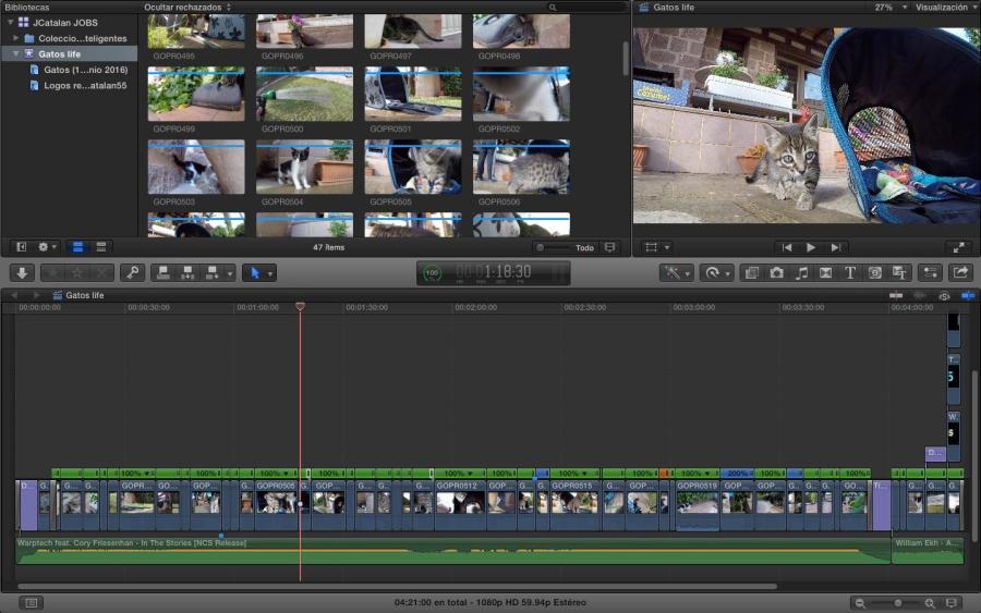 Como siempre, este es el vídeo dentro de FCPX. Aunque no haya mucho que mostrar, me gusta que lo veáis.