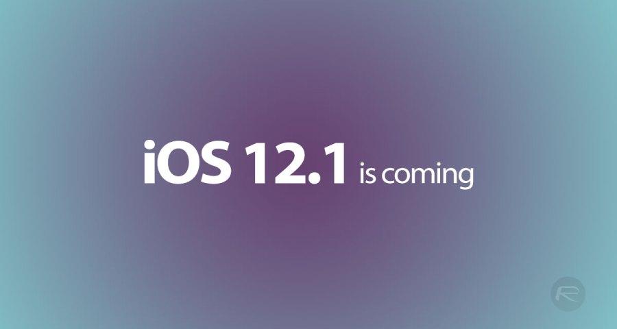 toca actualizar a iOS 12.1