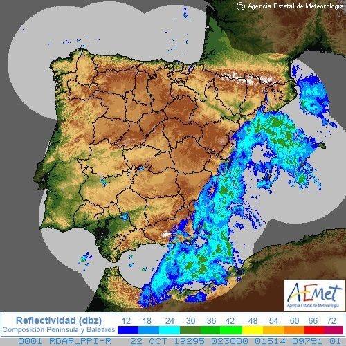 Huir de Valencia por las lluvias