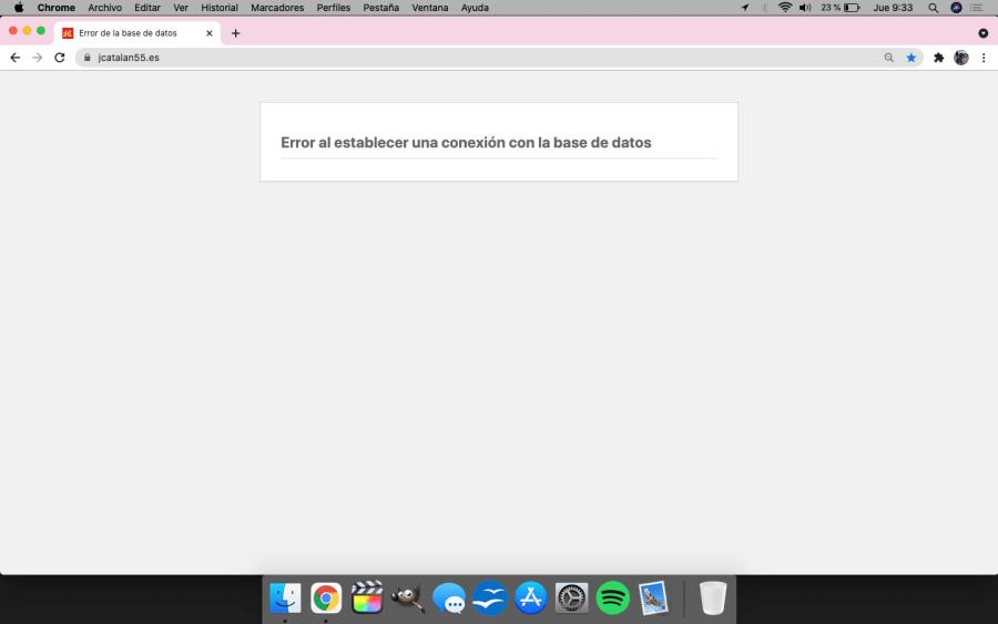 Web caída nuevamente