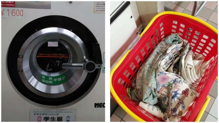 MAOはんコインランドリーで着物を洗う!
