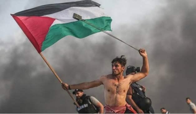 Un joven palestino