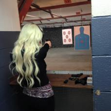 brittany learning to shoot