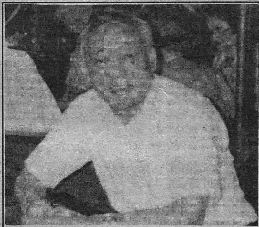 自営業・中野ジョージ英男さん(撮影・田中1991年7月)