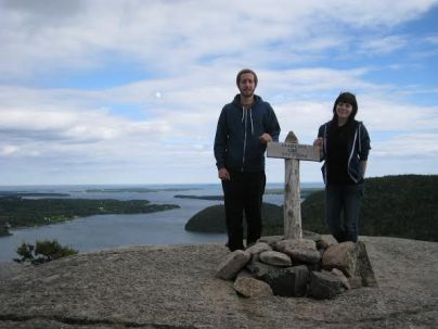 """Emily Mathieson and Jake Roche in Acadia National Park in Maine. """"Acadia National Park is one of the most beautiful places I have ever had the opportunity to visit,"""" Mathieson said. """"You cannot help but have an atavistic sense of well-being while immersed in the natural environment sustained here."""""""