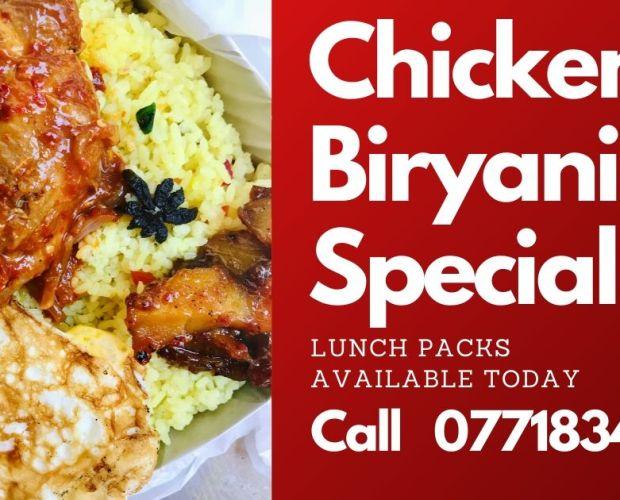 chicken biryani, biryani, batticaloa, food delivery