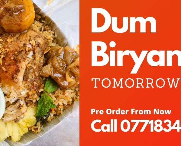 chicken dum biryani, biryani, batticaloa, food delivery