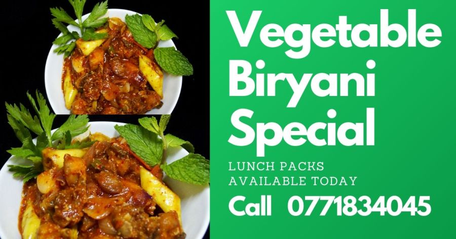 vegetable biryani, biryani, batticaloa, food delivery