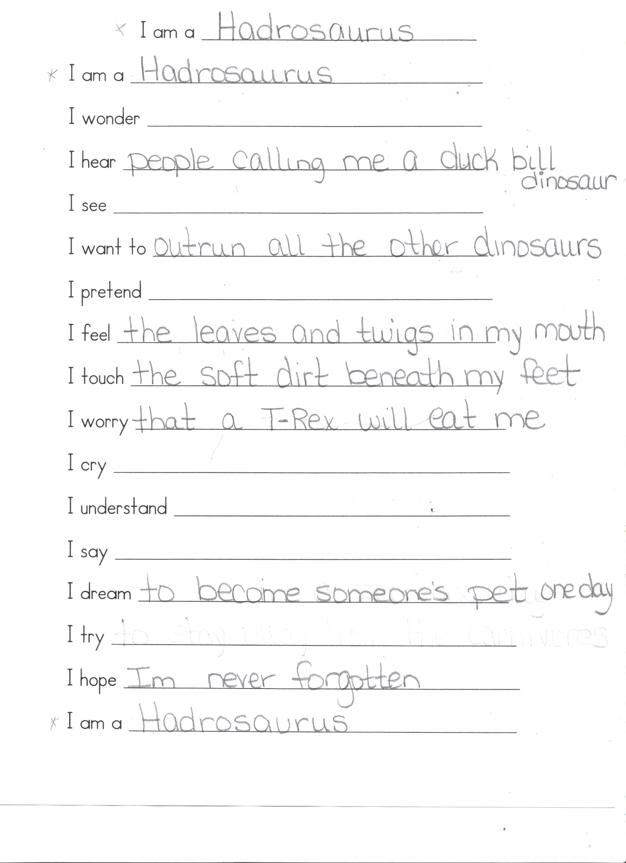 I Wonder Worksheets