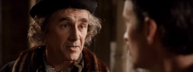 Mark Rylance plays Thomas Cromwell.