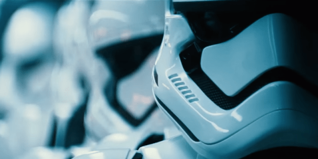 Stormtroopers in a line.