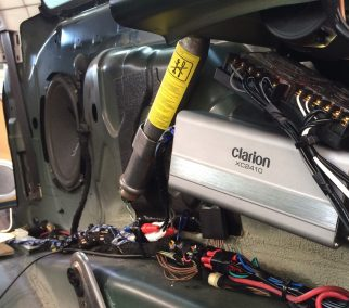 Clarion Replacement Amplifier into a Mini Cooper