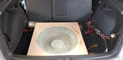 R32 Golf Custom Subwoofer Enclosure
