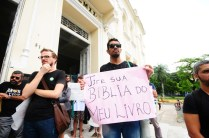 Protesto no centro do Recife