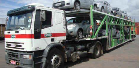 Carretas da Sada vão distribuir os carros produzidos pela montadora de Goiana / Divulgação