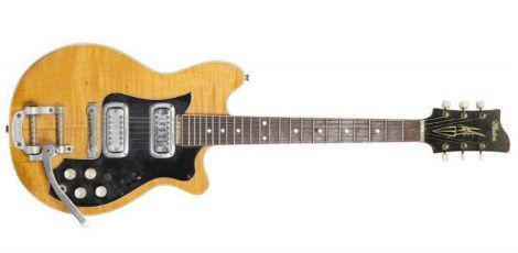 Guitarra Maton Mastersound  usada por George Harrison em turnê com os Beatles / Divulgação