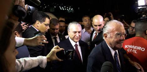 Resultado de imagem para imagens dos membros do governo chegando no hospital sirio libanês para velório de marisa leticia