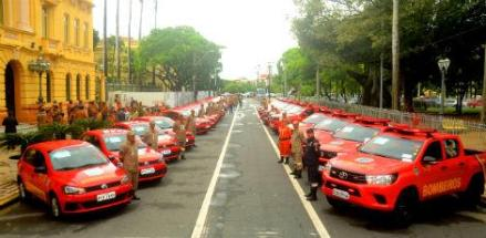 O investimento total anual dos veículos adquiridos foi de R$ 1.425.998,40 / Foto: Divulgação / Corpo de Bombeiros de Pernambuco