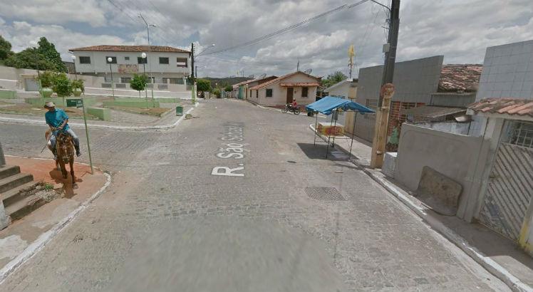Crime foi na Rua São Sebastião, no centro de Itambé / Foto: Reprodução / Google Maps