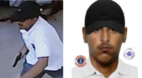 Feições do suspeito foram montadas a partir de depoimento da testemunha do crime / Foto: Divulgação / Polícia Civil