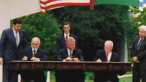 Signing of the Peace Treaty between Jordan and Israel