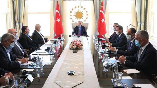 Erdoğan accueille la direction du Hamas dans son bureau, 22 août 2020
