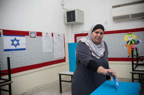 Voting in the Israeli-Arab town of Jaffa