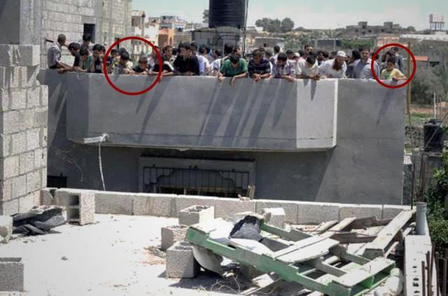 חמאס משתמש באזרחים כמגן אנושי