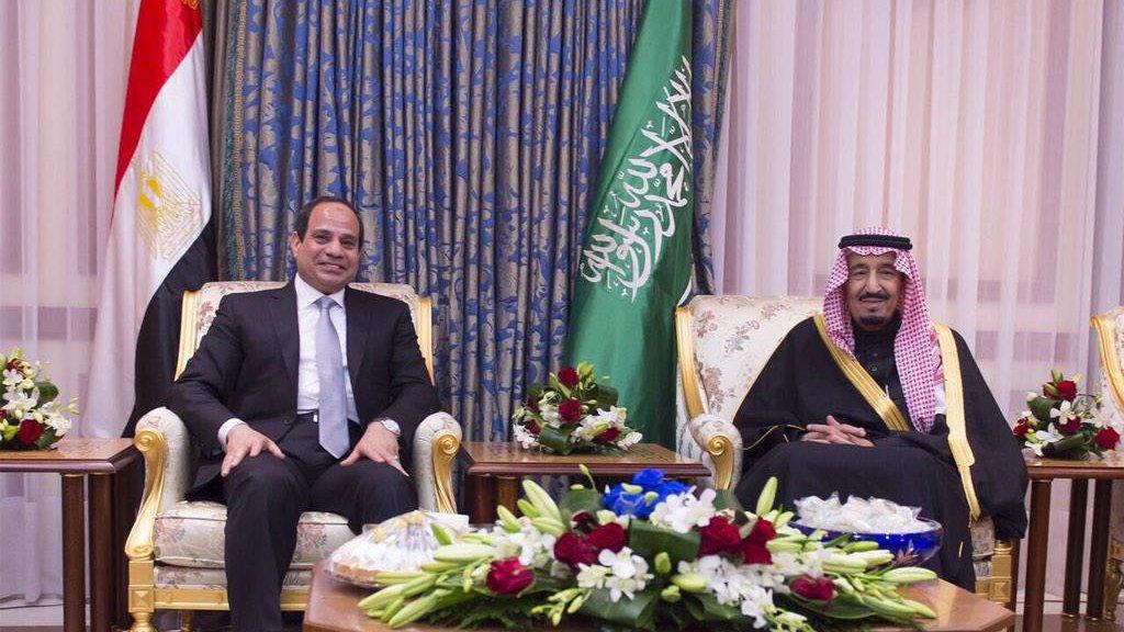 העברת טיראן וסנפיר לריבונותה של סעודיה
