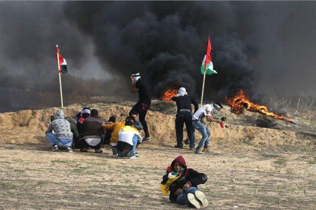 הפגנות החמאס ליד הגדר בעזה , פברואר 2018