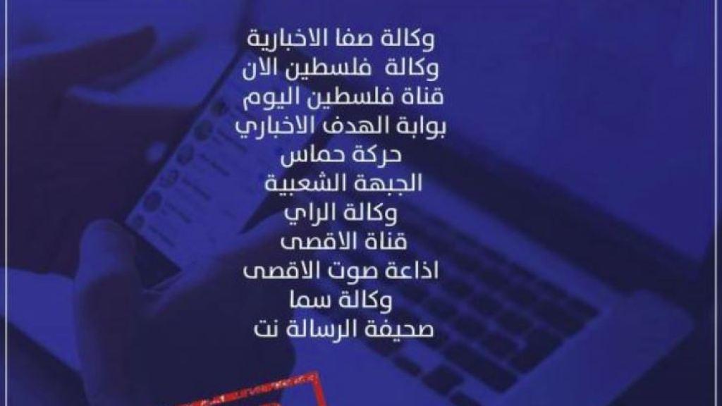 """דיווח: 11 אתרים פלסטינים """"נפלו"""" – לוחמת המודיעין ממשיכה"""
