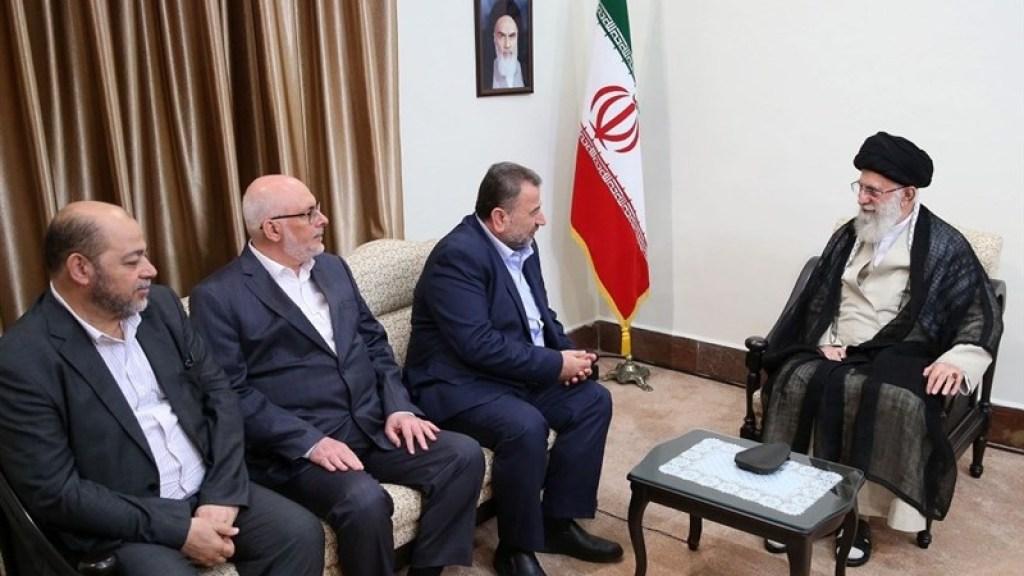 פגישת תאום? ח'אמנהאי נפגש עם ראשי חמאס