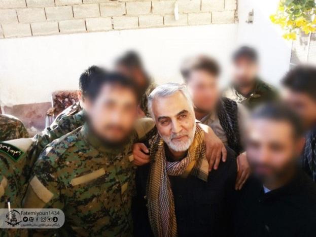 ביקור סולימאני ההתבססות האיראנית באזור אזור מעבר הגבול באלבוכמאל // מקור: המרכז למורשת מודיעין